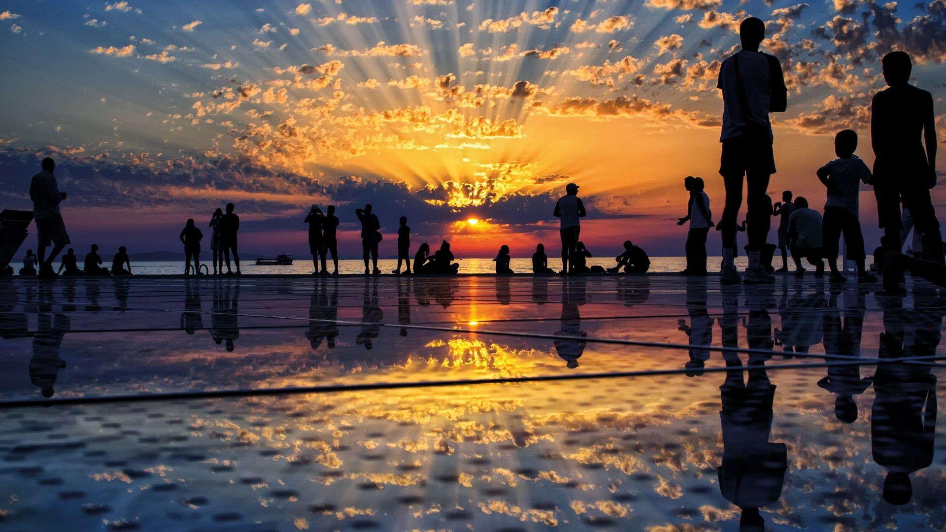 Zadar sunset Croatia Tourist Board Photoarchive