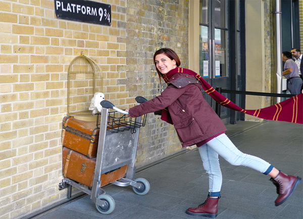 Stazione ferroviaria King Cross binario di Harry Potter