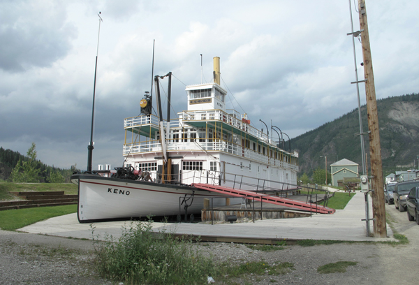 Dawson city, battello Keno